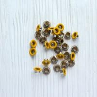 Люверсы жёлтые 9*5 мм