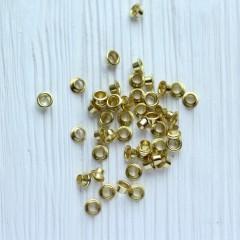 Люверсы золотые 8*4 мм