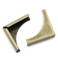Металлические уголки, бронза, 28*20 мм
