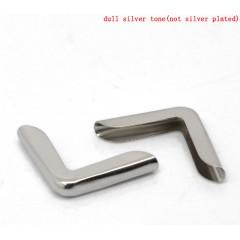 Металлические уголки, серебро, 21*15 мм