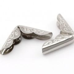 Металлические уголки, серебро, 30*21 мм