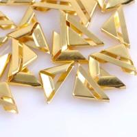 Металлические уголки, золото, 15*15*2,5 мм