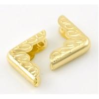 Металлические уголки, золото, 22*16 мм