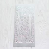 Контурная наклейка с металлическим эффектом 10 * 23 см Узор 1
