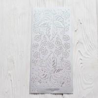 Контурная наклейка с металлическим эффектом 10 * 23 см Листья
