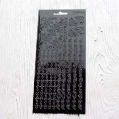 Контурная наклейка с металлическим эффектом 10 * 23 см Узор 3