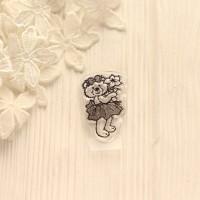 Штамп Мишка с цветком