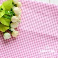 Бязь,бело-розовая клеточка(цена указана за отрез 40*50см)