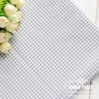Бязь,бело-серая клеточка(цена указана за отрез 40*50см)