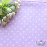 Бязь,белый горох 7мм на светло-розовом фоне(цена указана за отрез 40* 50см)