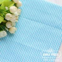 Бязь,мини-зигзаг 7мм голубого цвета на белом фоне(цена указана за отрез 40*50см)