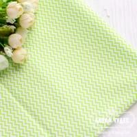 Бязь,мини-зигзаг 7мм салатового цвета(цена указана за отрез 40*50см)