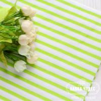 Бязь,полоска 6мм салатового цвета на белом фоне(цена указана за отрез 40*50см)
