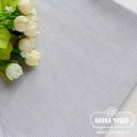 Бязь,тонкая серая полоска на белом фоне(цена указана за отрез 40*50см)