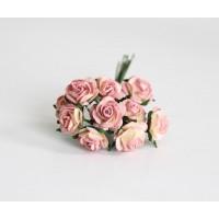 Розы желто-розовые,1 см