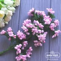Сложные тычинки,розовые (цена указана за пучок из 6 веточек)