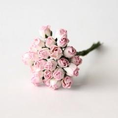 Бутоны роз бело-розовые, 0,8 см