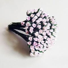 Бутоны роз бело-розовые, 5*3 мм