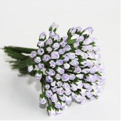 Бутоны роз бело-сиреневые, 5*3 мм