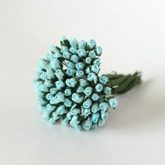 Бутоны роз бирюзовые, 5*3 мм