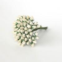 Бутоны роз кремовые, 0,6 см