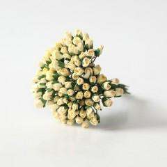 Бутоны роз светло-жёлтые, 5*3 мм