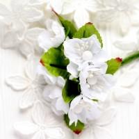 Цвет яблони белый 3,5 см