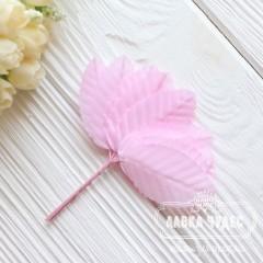 Листик декоративный розовый 5*2,7 см