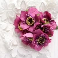 Мак фиолетовый 4 см