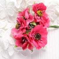 Мак розовый 4 см