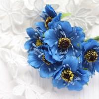 Мак синий 4 см