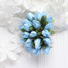 Подснежники голубые 2 см, букет из 5 шт