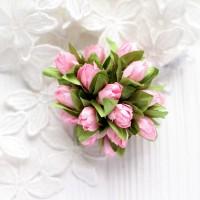 Подснежники розовые 2 см, букет из 5 шт