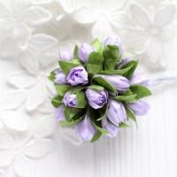 Подснежники светло-фиолетовые 2 см, букет из 5 шт