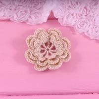 Вязаный цветок из хлопка 5 см