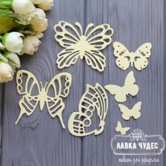 """Набор """"Бабочки""""светло-желтые"""