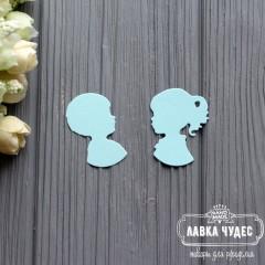 """Вырубка """"Мальчик и девочка"""" голубой"""