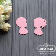 """Вырубка """"Мальчик и девочка"""" розовый"""