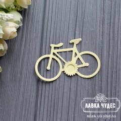 """Вырубка """"Велосипед""""светло-желтый"""