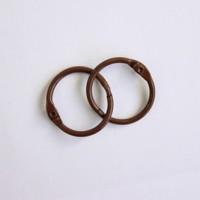 Кольца для альбомов, 2 шт темно-коричневые 20 мм