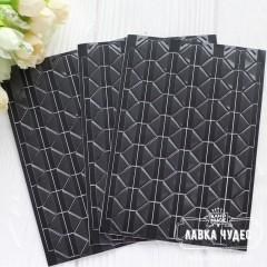 Уголки для фото, прозрачные, чёрная основа (102 шт на листе)